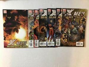 X-Men: Deadly Genesis Run w/Quesada Variant 1b & 1-6 Marvel 2006