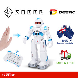 DEERC Robot Toys for Kids Boys Smart Programmable Remote Control Robots Toy Gift