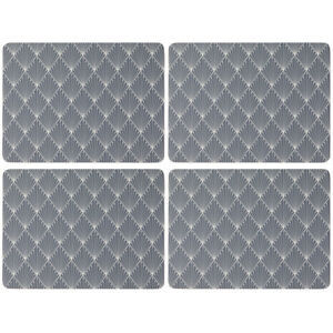 English Tableware Co. Geometric Set of 4 Placemats Table Mats Cork Backed