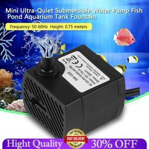 Ultra-Quiet Submersible Water Pump Aquarium Fish Tank Sump Pond Pumps Filter New