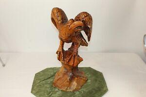 Vintage American Eagle Wood Carving Spread Wings Wood Eagle Carving