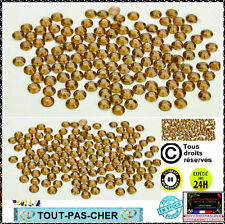 200 Strass Cristal 3D Perles Décorations Ongles Nail Art Manucure Facette 1mm Or