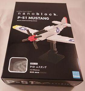 Kawada Nanoblock P-51 MUSTANG - Japan building toy block NEW  NBM-005 Worldwide