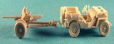 Milicast BA30ATG 1/76 Resin WWII USA Jeep Towing 37mm Anti-Tank Gun