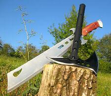Massive tomahawk hacha 42 cm + hermosa Massive machete 51 cm top a014 + m021