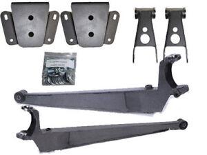 """B 1987-1996 Ford F150  3"""" Front Drop I Beams, 4"""" Rear Drop Shackles Hangers"""