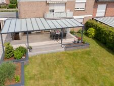 Terrassenüberdachung 4x3,5 aus ALU mit 10 mm VSG Glas Klar