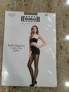 New WOLFORD Sand Individual 10  Control Top Tights Size XL