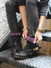NWOB Free People AS 98 Daxton Buckle Ankle Boot Black Leather 37 7 $398 Sold Out