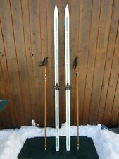 """Ready to Use Cross Country 79"""" Long ROSSIGNOL 205 cm Skis +  Poles"""
