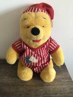 Disney Mattel 1998 Winnie The Pooh Plush Night Shirt Night Cap Pyjamas