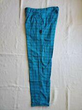 Rare Vtg 80s 90s Gotcha Surf Skateboard Pants Blue Plaid Checked