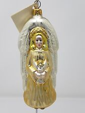 Patricia breen glass ornament: christmas angel in peace