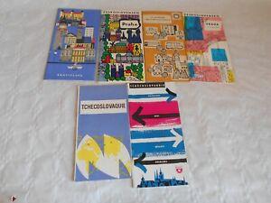 Vintage travel brochure collection Czechoslovakia Tchecoslovaquie 1950/60s Expo