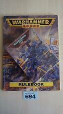 LIMITED EDITION SPACE MARINE CAPTAIN WH40K 25TH ANNIVERSARY NISB & RULEBOOK #694