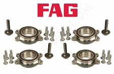 For Audi A4 A5 A6 Quattro S5 S6 Set of 2 Front & 2 Rear Wheel Bearing Kits FAG