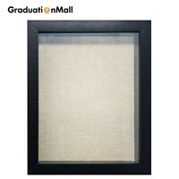 GraduationMall 8x8, 8x10, 11x14 Shadow Box Frame Wood Display Case Linen Back