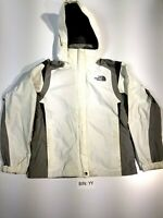 THE NORTH FACE WOMEN'S MEDIUM HYVENT WHITE ZIP UP HOODED SHELL JACKET :YY