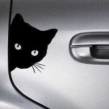 Truck Cat Face Peering Funny Auto Decal Window Car Bumper Body Sticker Black