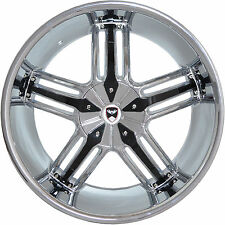4 GWG Wheels 22 inch Chrome Black SPADE Rims fits FORD EXPEDITION 4WD 2000-2002