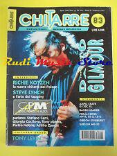 rivista CHITARRE 83/1993 David Gilmur Steve Linch Richie kotzen Stadio No cd