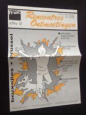 Rare journal Rencontres Fnac 1988 Tintin TBE