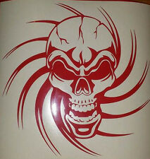 Tribal Skull - vinyl wall art stickers, decals, graphic in choice 54 colours