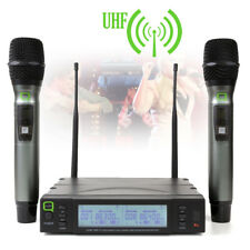 Q-Audio QWM 1960 V2 HH UHF Dual Channel Wireless Handheld Microphone System