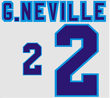 Euro 1996 G.Neville 2 England Home Football Name set for National shirt