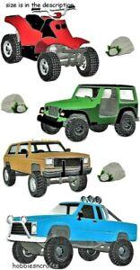 OFF ROADING Jolee's Boutique 3-D Stickers - Quad Bikes Jeep Trucks 4 x 4