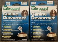 2 Box DOG Safe-Guard fenbendazole Canine Dewormer (8 in 1) Treats 20 Lbs PANACUR