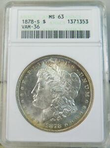 1878 S Morgan dollar ANACS MS63 *VAM 36.1 dragon scales WOWList* EP