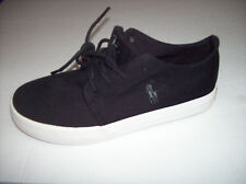 NWOB POLO RALPH LAUREN Youth Boys Black Canvas Lace-Up Shoes  Sz 1