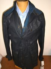 Matchless Cotton Blend Waterproof Hooded Nottingham Moto Parka NWT XL $865 Navy
