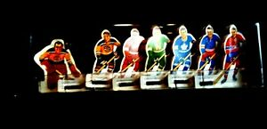 Vintage 1960 Eagle Toys NHL Power Play Table Hockey 6 Sets of Players
