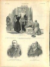 Russie Mort d'Alexandre III Cierge Eglises à Saint-Petersbourg 1894 ILLUSTRATION