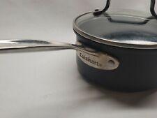 Cuisinart 1.5 Quart Sauce Pan With Glass Lid Black Hard Anodized Aluminum
