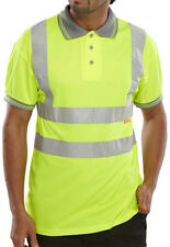 B Seen B-Casual Hi Viz Yellow Polo Shirt - EN471 - Size Large - K49