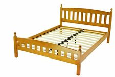4FT6 DOUBLE ANTIQUE PINE WOODEN FLORENCE BED FRAME ONLY -MATTRESSES IN EBAY SHOP