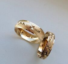 14K SOLID GOLD HIS&HER WEDDING/ANNIVERSARY BAND RING SET SZ 5-13 FREE ENGRAVING