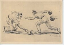 Olympia 1936  - Hilfsfond für den dt. Sport  Werbepostkarte 15 - Kegeln