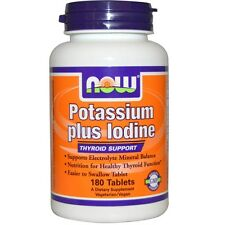 Now Foods, Potassium Plus Iodine, Thyroid Support, 180 Tablets, Free Shipping