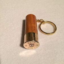 Eley Shotgun Shell Cartridge Cap Solid Elm wood Keyring Shooting gift!