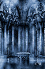 5X7FT Gothic Pillars vinyl photography background backdrop Photo studio props