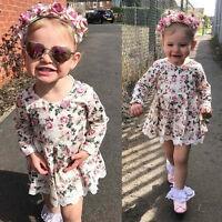 enfants bébé fille dentelle florale robe tutu fête Pageant boule robe princesse