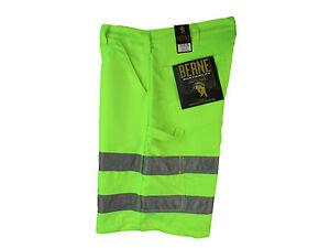 BERNE Mens Hi-Vis ANSI/ISEA 107-2010 Certified Work Wear Cargo Shorts