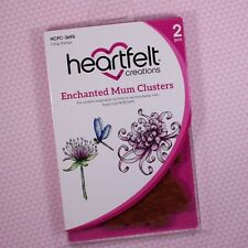 Heartfelt Creations Cling Rubber Stamp Enchanted Mum Clusters, HCPC3695 RETIRED!