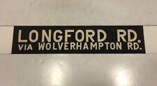 """West Midlands 1950 Walsall Bus blind 18""""- Longford Road Via Wolverhampton  Road"""