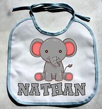 Personalized Monogram Custom Elephant Zoo Animal Baby Boy Bib Shower Gift bibs