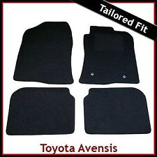 TOYOTA AVENSIS Mk2 2003-2008 Tailored Fitted Carpet Car Floor Mats BLACK